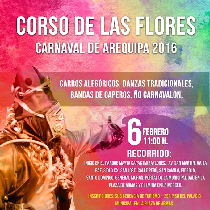 Corso de las Flores - Carnaval de Arequipa 2016 - 06 de feb