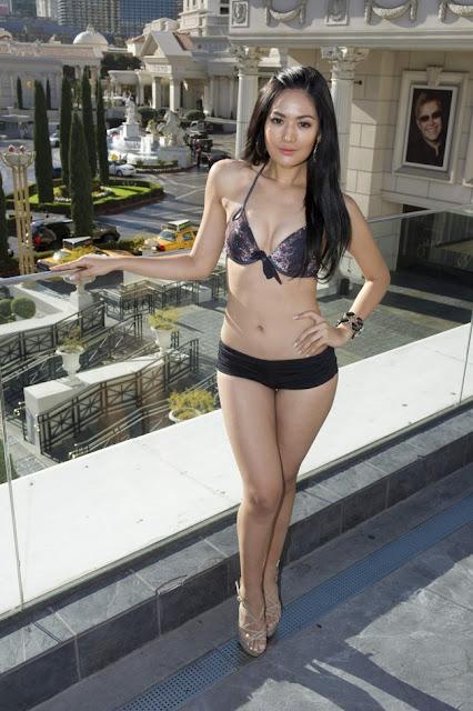 Putri Indonesia 2011 Maria Selena tengah berada di Las Vegas