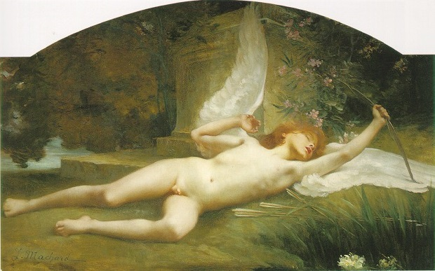 Cupid,jules machard,classical painting