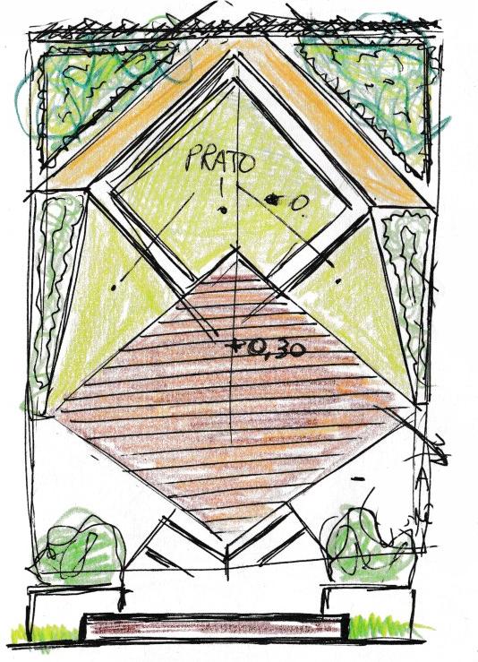 Progettare spazi verdi schizzo progettuale 4 for Progettare spazi verdi