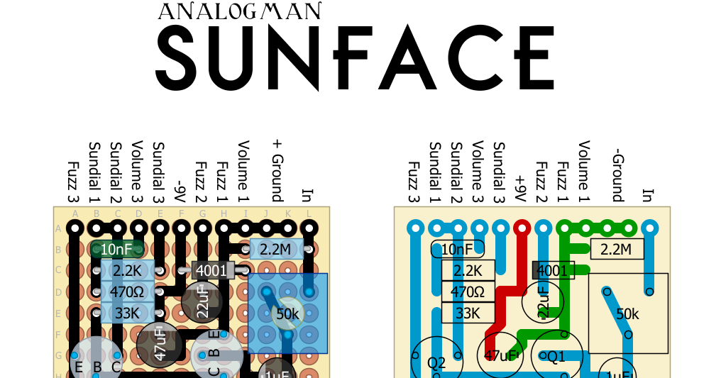 analogman sunface schematic nkt 275: Perf and pcb effects layouts analogman sunface