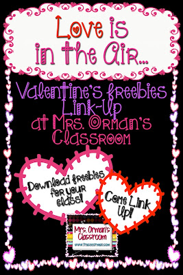Valentine's Day Freebie Link-Up at Mrs. Orman's Classroom