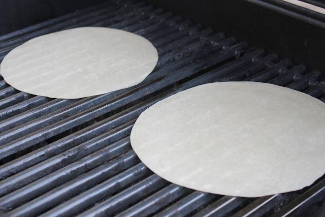Grilling tortillas
