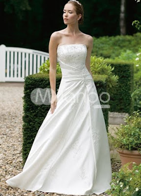 White Strapless Gown