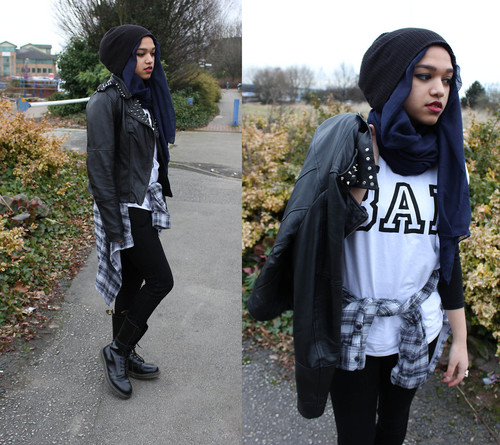 Hijab Keren 2013 Gaya Rock And Roll Ala Saimasmileslike