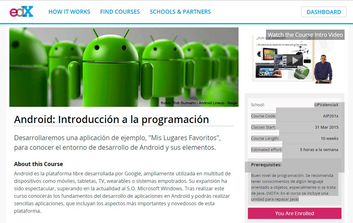 Curso Online Android: Introducción a la programación edx
