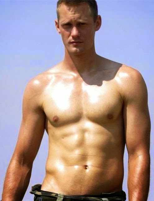 does alexander skarsgard workout