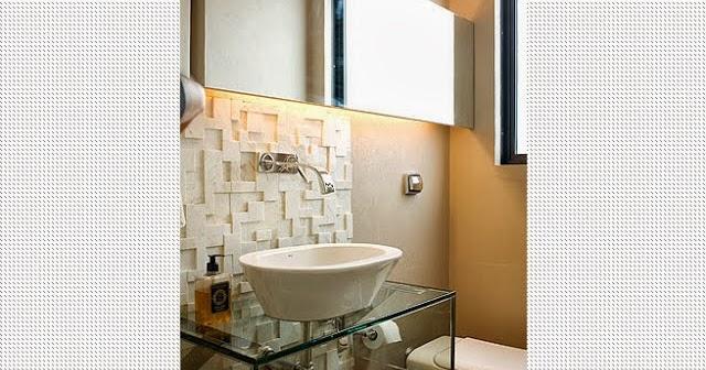 Kit Bancada Banheiro Vidro : Inspira??o uma id?ia com vidro para a bancada do