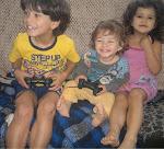 Meus netos maravilhosos,saudáveis e ricos,que e amo muito!namastê!