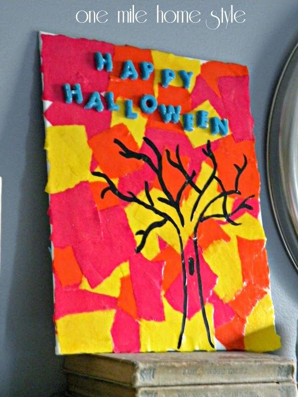 Glow In The Dark Halloween Art with Mod Podge
