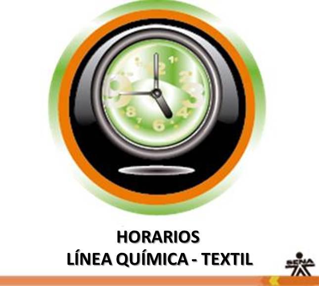 HORARIOS LINEA QUIMICA-TEXTIL