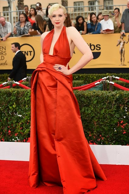 Gwendoline Christie in Giles SAG Awards red carpet 2015