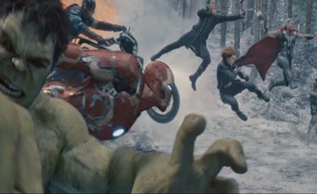 Five Avengers, captured in flight