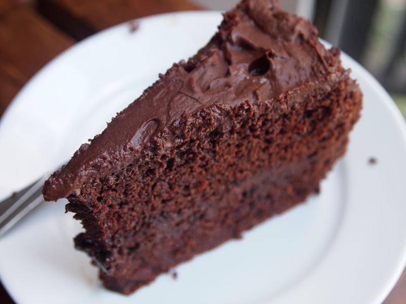 Hershey's Perfectly Chocolate Cake w/ Hershey's Chocolate frosting ...