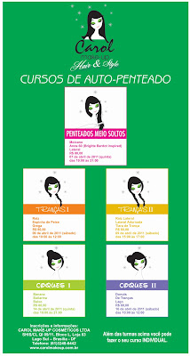 CURSO+CAROL+MAKE+UP Cursos de Auto Penteado!
