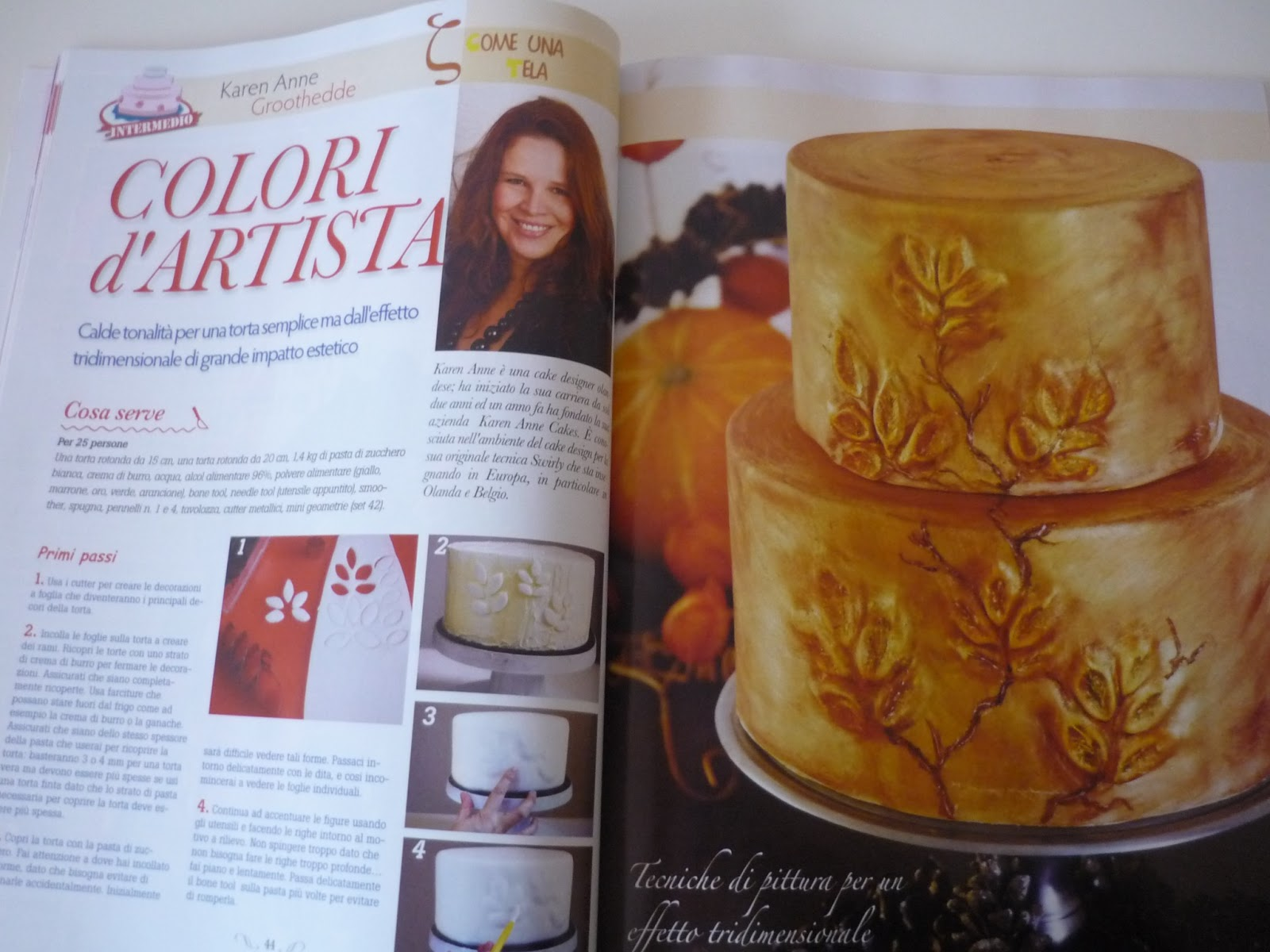 Karen Anne Cakes: Karen Anne Cakes in Cucina Chic Cake Design Magazine