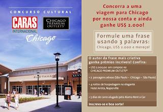 """Promoção """"Caras Internacional & Chicago Premium Outlets"""""""