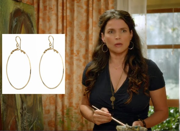 Julia Ormond wears Peggy Li earrings
