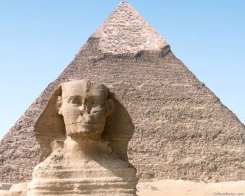 Sphinx is much older than the Pyramids!  Sphinx_Pyramid