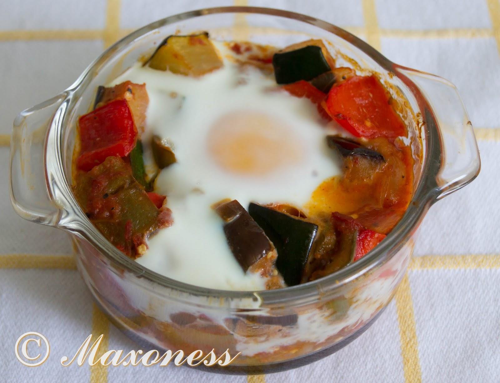 Запеченные яйца с рататуем от Гордона Рамзи