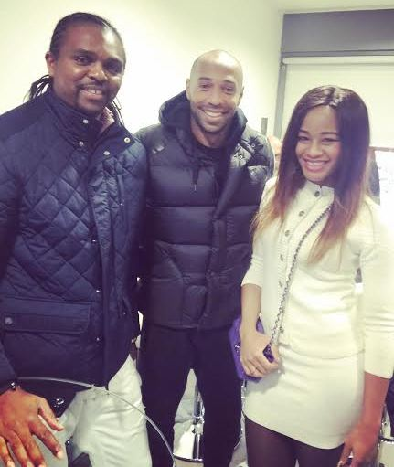 Kanu Nwankwo reunites with former teammate, Thierry Henry