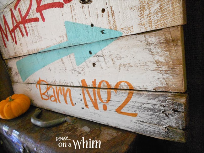 Fun Pallet Sign from Denise on a Whim