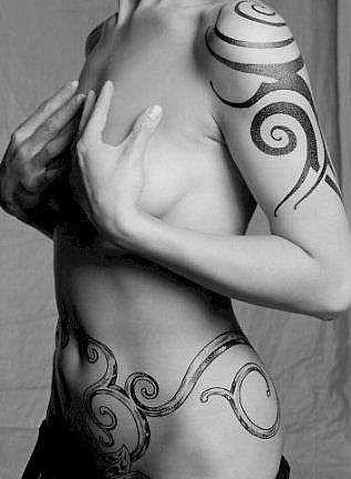 friendship symbol tattoos. girl tribal tattoo.