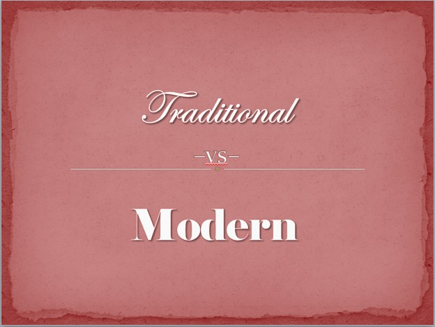 Relationship Stance: Traditional vs Modern
