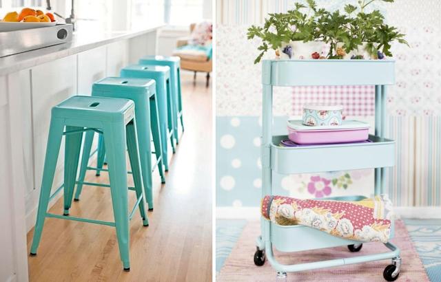 Decoraci n f cil 6 ideas para dar color pastel a la cocina for Papel para tapizar paredes