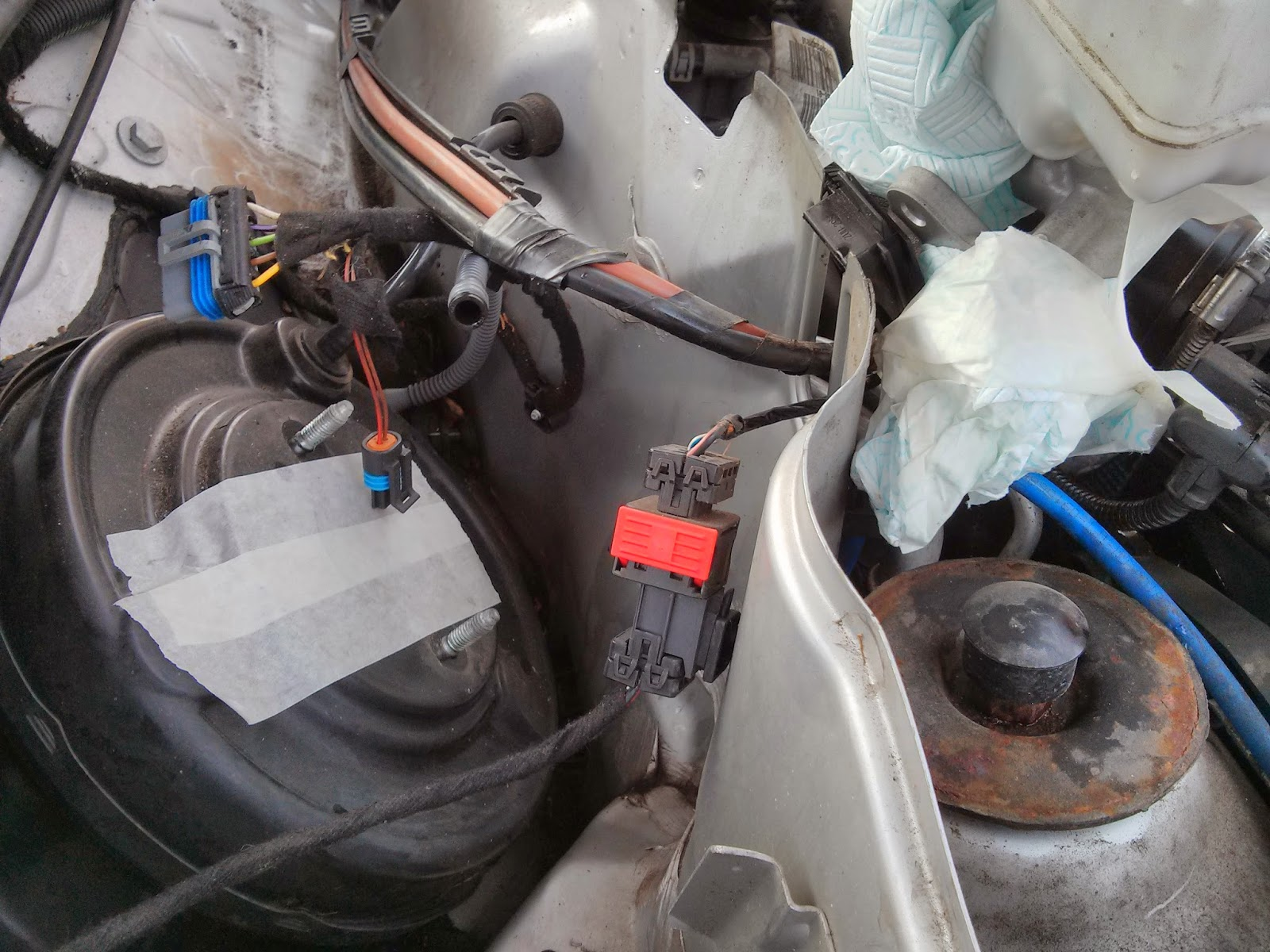 Cars Code And Other Fun Stuff Corsa C Water Leak Challenge Vauxhall Battery Wiring Undo The Master Cylinder Bolts 13mm Move It Out Of Way I Find Best To Hold Cables Underneath