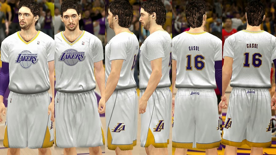 NBA 2K14 Christmas Day Uniform - LA Lakers