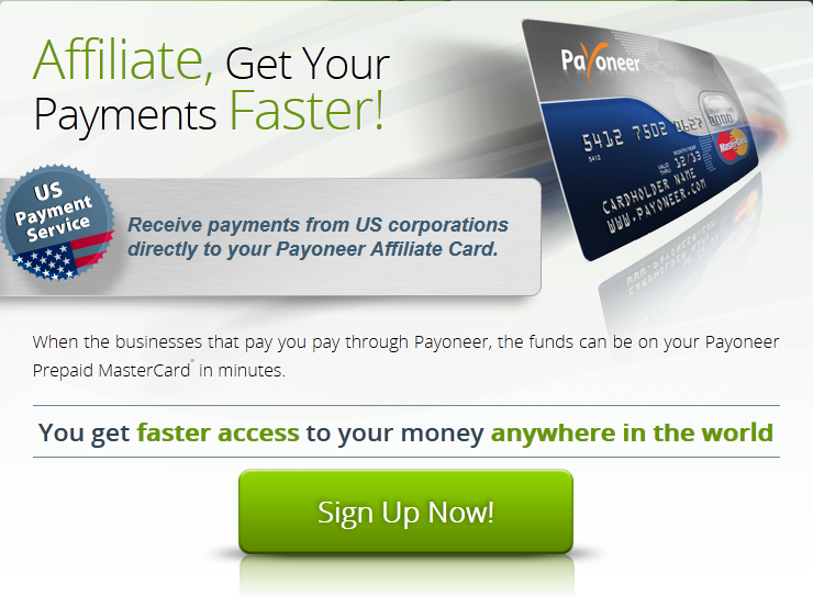 US payment service with Payoneer