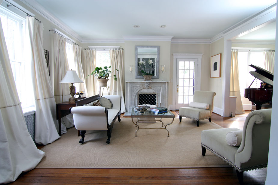 Glamorous Suburban Home Living Room