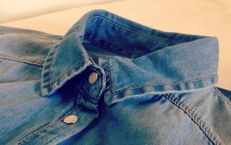 Col chemise jean Stradivarius