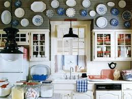 mylittlehousedesign.com plates above kitchen cabinets