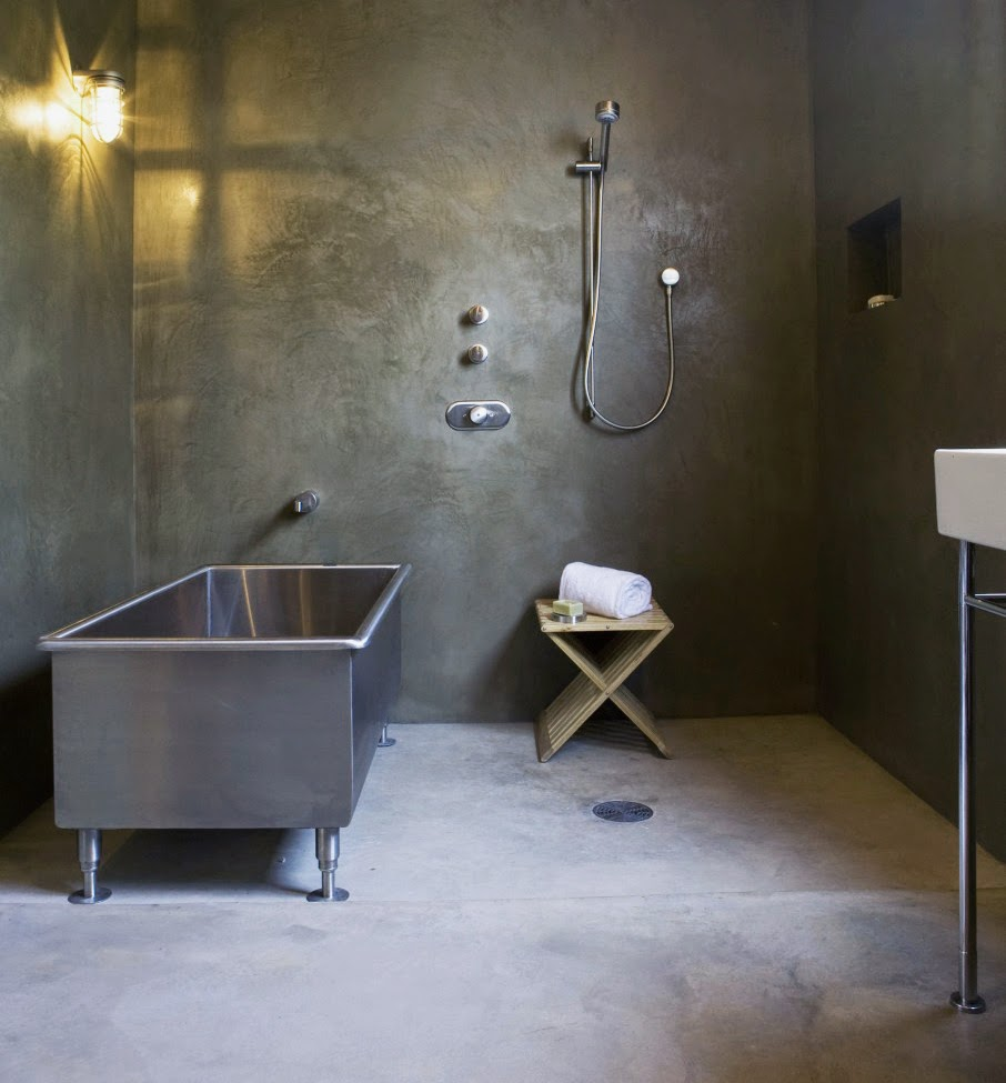 industrial metal bathroom