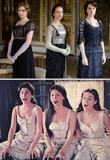 funny downton abbey crawley sisters and Hot Orthodox Jew porn