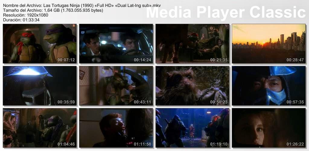 Las Tortugas ninja (1990) BRrip Full HD Dual Lat-ing sub
