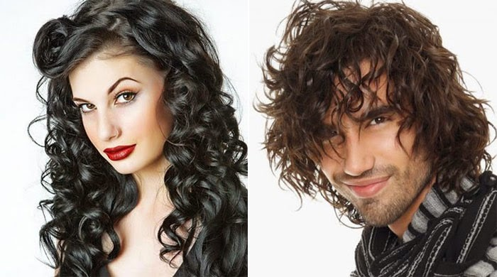 Long curly hairstyles for women and men