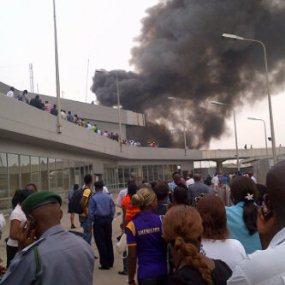Fire BreakOut At Murtala Mohammed International Airport!