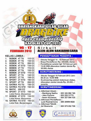 Jadwal Event DRAG BIKE Indonesia