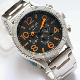Nixon Monster Silver Orange