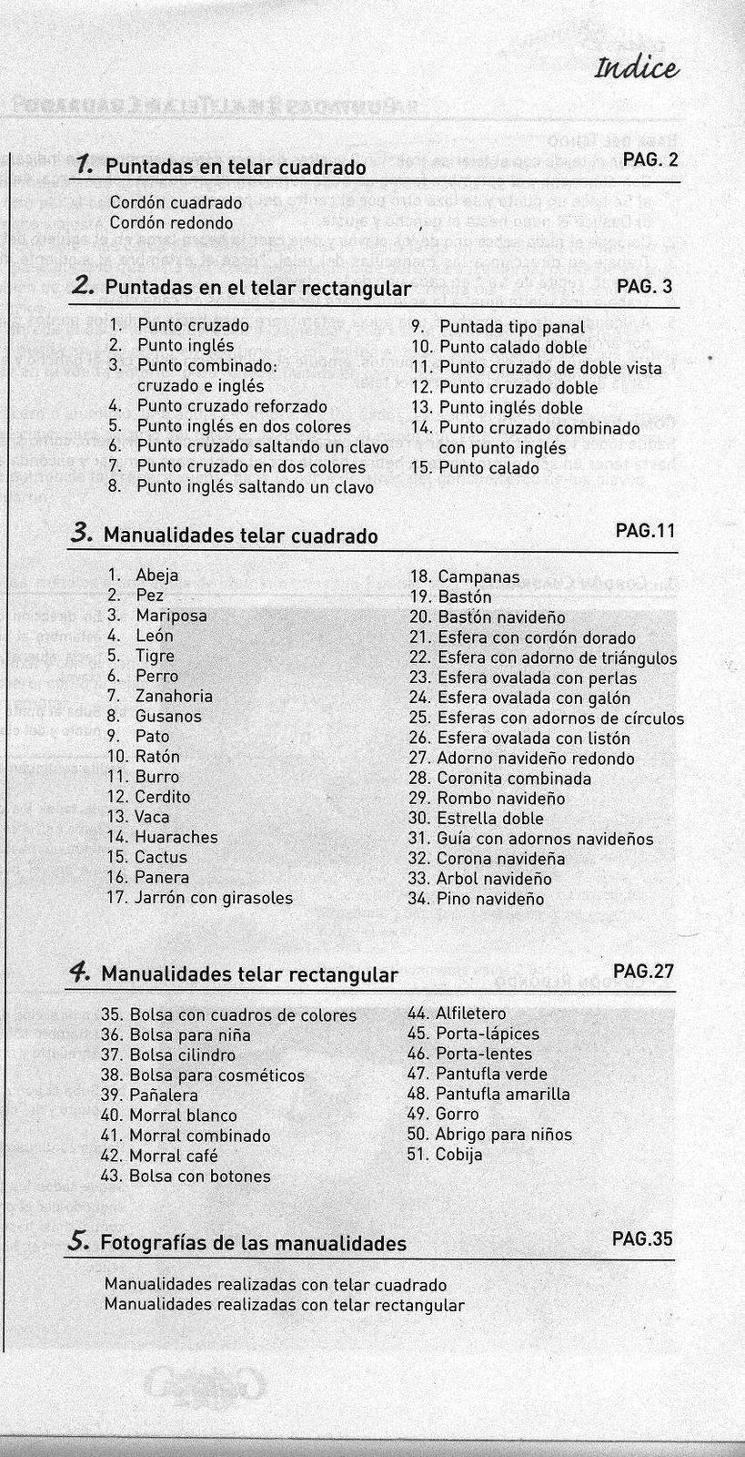 Baúl Manualidades: MANUALIDADES CON TELAR CUADRADO Y RECTANGULAR