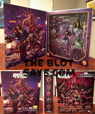 Entertainment Earth Exclusive Comic Book Edition Guardians of the Galaxy Marvel Legends Box Set by Hasbro