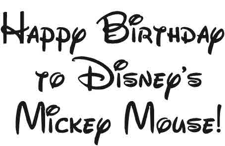Happy Birthday to Mickey Mouse! Tutorial & Free Printable Too