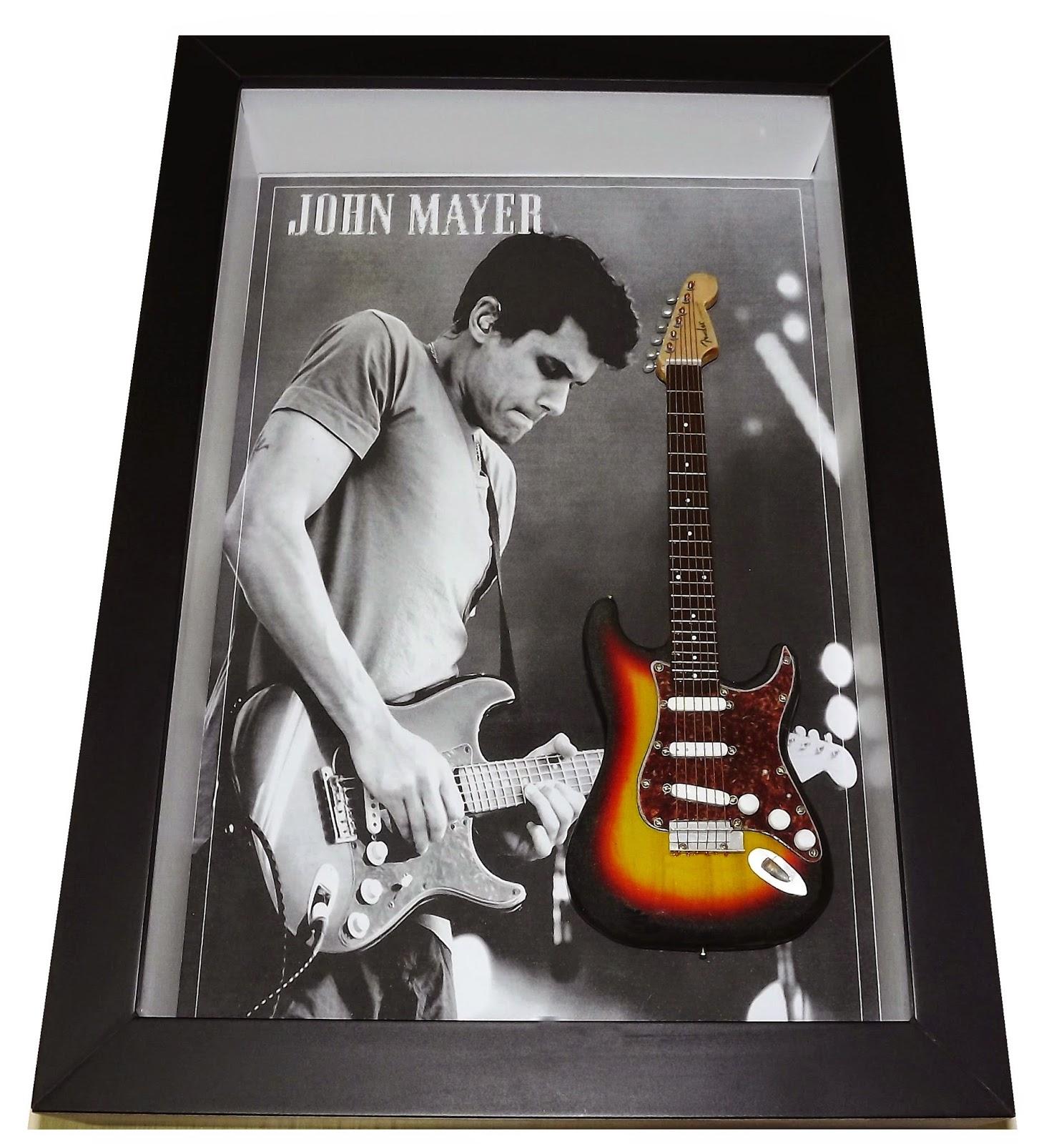 Miniatura Guitarra Fender Stratocaster John Mayer