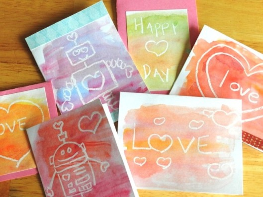 watercolor valentines cards