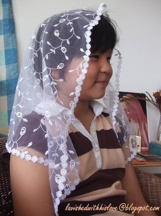 Lavished with His Love: How to make a chapel veil