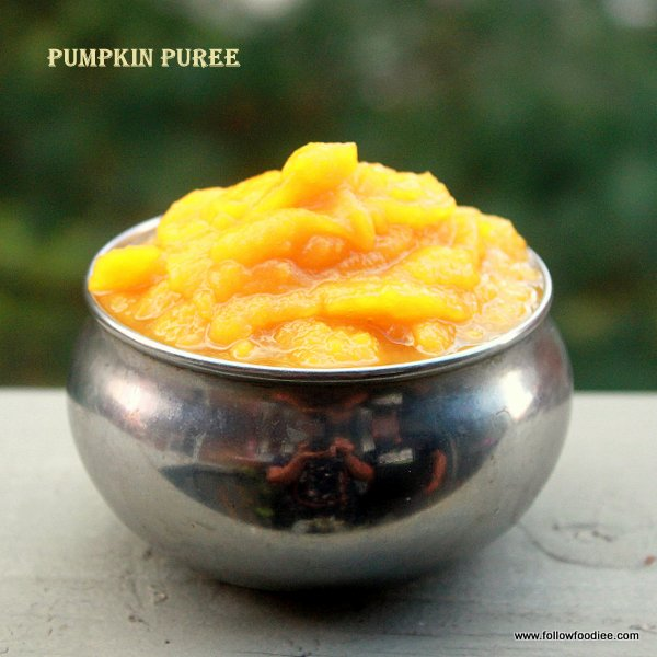 Pumpkin Puree made in Pressure cooker