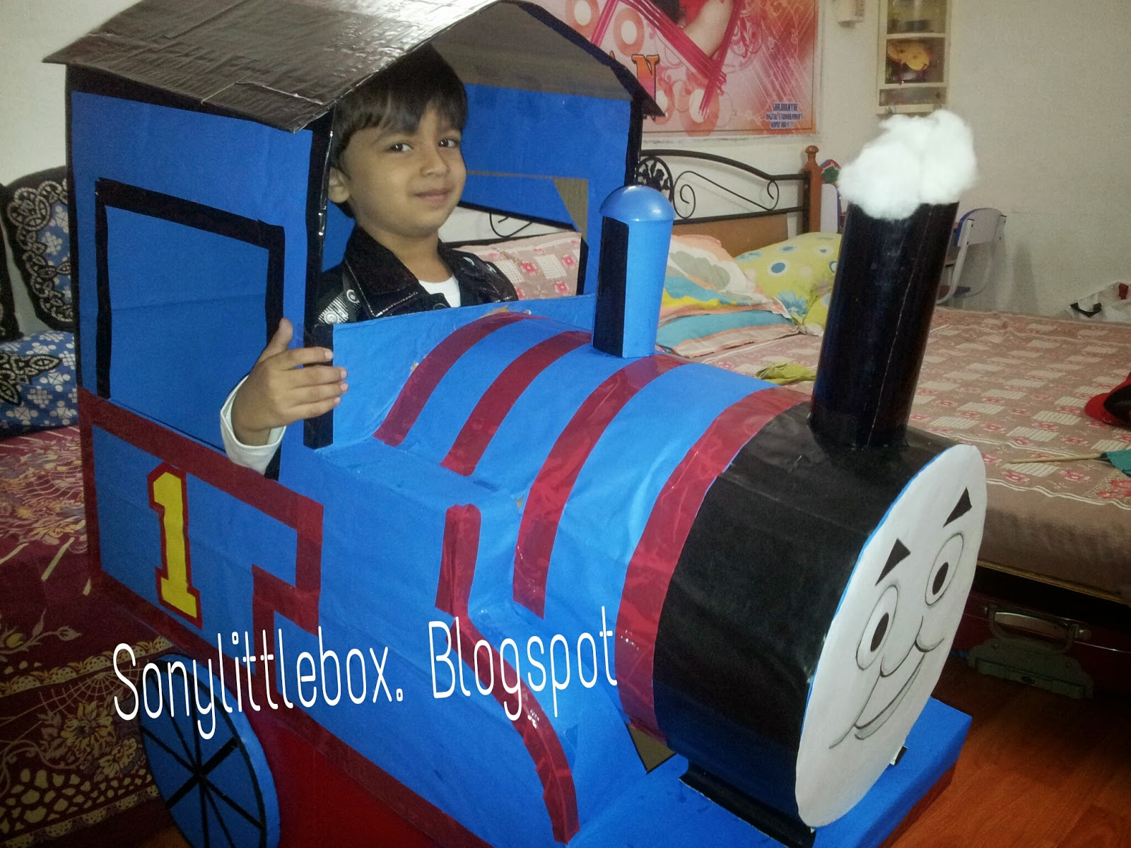 Diy thomas the tank engine for kids fancy dress competition halloween